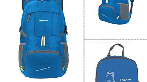 HEXIN Lightweight Packable Durable Waterproof Travel Backing Daypack for  Men Women 5a70a30b8e